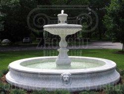 Fontana decorativa di scultura di pietra di marmo naturale della statua del giardino dell'acqua del granito