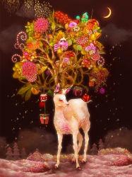 Outil de peinture des cadeaux de Noël 5D de diamant canvas peinture d'impression