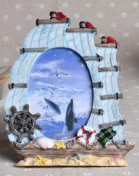 Factory Direct Handmade thème marin Photo Frame pour déco en céramique