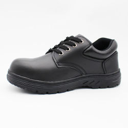 China Pas Cher Bon Prix Nom de travail noir Hommes Chaussures de sécurité industrielle de la marque