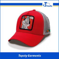 5 panneau imprimé en gros de Guangzhou Caps, Casquette de baseball de coton, patch face Caps