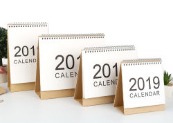 Cuadro personalizado Reloj Calendario de papel de pared de mesa calendario de escritorio