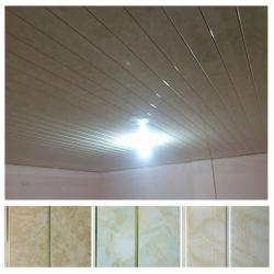 stof van het Plafond van de Rek van pvc van de Groef van de Breedte van 200mm de Midden Gouden voor het Bureau van het Huis