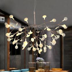 Folha de acrílico LED bonita luminária de luz pendente para interior para jantar