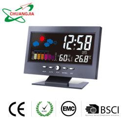 Termometro del tempo di bollettino meteorologico dell'igrometro della stanza del video di umidità di temperatura di Digitahi