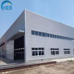 Gruppo di lavoro della struttura d'acciaio del materiale da costruzione del magazzino con il tetto mobile per l'esportazione