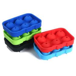 Seis orificios de la bandeja de cubitos de hielo con tapa