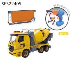 El tornillo de bricolaje taladro eléctrico el bloque de construcción ABS vehículo ladrillos Fire/Ingeniero/basura Coche de juguete