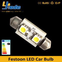 505050SMD 36mm 栗色ベース LED バルブカーバルブの交換