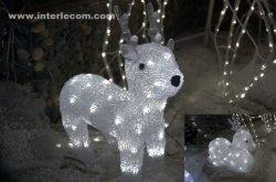 3D AcrylLicht van het Rendier van Kerstmis met leiden (AR4011)