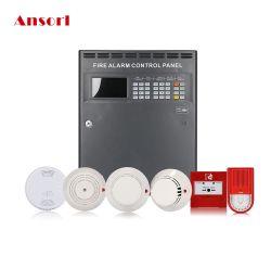220VAC/24VCC la detección de humo Sistema de Control de alarma de seguridad contra incendios