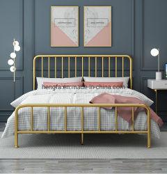 Hôtel simple moderne chambre à coucher Mobilier décoratif lit en fer multifonction