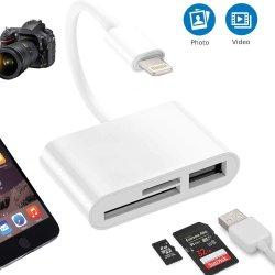 Portátil 3 en 1 Multipuerto USB / SD / TF Card Reader para el iPhone ios 13