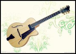 7 cuerdas de guitarra de jazz con madera maciza (YZ-22N01).