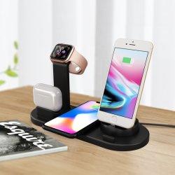 Многофункциональный беспроводной связи 4 в 1 зарядное устройство для Apple Airpods/часы/Мобильный Банк питания аксессуары для телефонов источник питания зарядной станции Зарядное устройство зарядное устройство для мобильных ПК