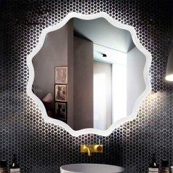 Ванная комната под руководством наружного зеркала заднего вида, монтироваться на стену за круглым столом пескоструйной обработки дизайн макияж зеркала в противосолнечном козырьке для простых декоративных дизайн ванная комната гостиницы