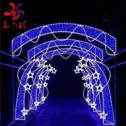 Comerciais de grande arco de Natal 3D Motif Estrela iluminado