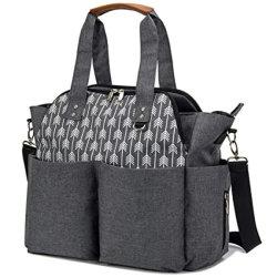 Moda Wholesales Fraldas para bebés cinza bag bolsa sacola fralda Lazer Caminho Messenger para mamãe e meninas