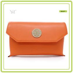 새로운 패션 Best Price Cosmetic Clutch Bag with Metal Plate
