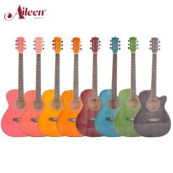 Todos os tamanhos de mão Esfregou durante todo o processo e corpo de corte violão acústico (AF-GH00L)