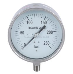 Капри манометр давления масла заполнен Dia 2.1 2 S стальной корпус латунь нижний разъем 1/4 BSP диапазон 0 250 Бар фунтов