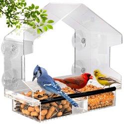درج بذرة قابل للفك مزود بمغذي الطيور في نافذة فتحات التصريف