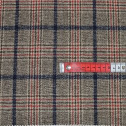 Pequena quantidade mínima de 100% de fios de dupla face italiana pesados Tingidos Verificar Lã de poliéster Bata Plaid Tweed para casacos de malha