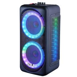 BluetoothおよびRemote Controlの倍8 Inch Multimedia Audio Karaoke Rechargeable Wireless Microphone Trolley Speaker