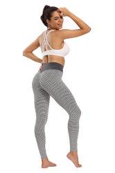 Tejidos de punto de la mujer buena cintura alta elasticidad de la ejecución de los pantalones de gimnasia
