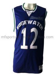 普及したデザイン印刷のバスケットボールのジャージーによって昇華させるワイシャツ