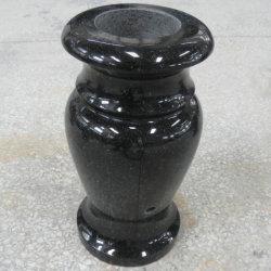 Jet girato Black Granite Vase per il cimitero