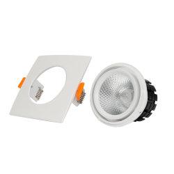 Quadratische einzelne doppelte Stecker Dimmable LED PFEILER Scheinwerfer-Decken-Innenbeleuchtung-Abstieg-Licht