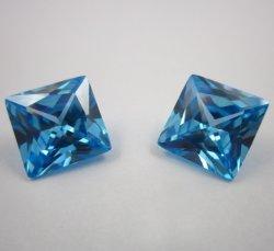 De Blauw Prinses van het aquamarijn/Kussen/het Vierkante Zirkoon van de Besnoeiing voor Halsband