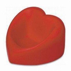 Espumas de poliuretano en forma de corazón rojo de teléfono móvil estrés titular de la bola con Logo corporativo