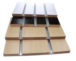 7 y 11 ranuras MDF melamina aluminio Slatwall paneles con