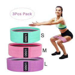 Logotipo de marca personalizada de fábrica direto ao tesouro do quadril exercício de ioga ou bandas de resistência de deslizamento, estiramento durável grossista de exercícios de fitness Ginásio inicial da banda de loop de Fitness