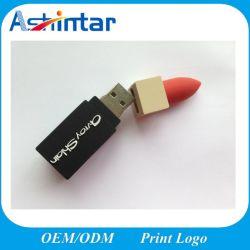 3DフラッシュディスクCustomedの口紅PVC USBのフラッシュ駆動機構