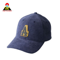 6パネルの帽子3Dの刺繍は野球帽を遊ばす