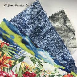 Haut de la qualité 100% Polyester taffetas de tissu à doublure imprimée numérique