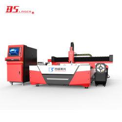 Maandelijkse aanbiedingen 4000*1500 mm Blad en Tube Fiber Laser Snijmachine met IPG Raycus Max laserbron