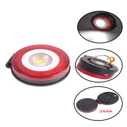 2 em 1 Mini-Round Luz de Trabalho com alarme vermelho (33-2Z10111)