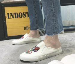 Новый холст туфли ручной работы вышивка ленивой обувь одной плоской обувь для мужчин обувь повседневная обувь
