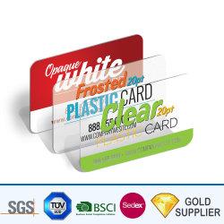 Muestra gratuita de impresión Offset personalizado barato Hotel tarjeta RFID de plástico transparente de PVC ID de inyección de tinta magnética chip inteligente de tarjeta de presentación de pertenencia a la venta