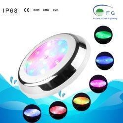RGB 316のステンレス鋼LEDの平らな壁の台紙のプールの水中照明