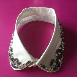 رقبة من حجر الراين مصنوعة يدويًا من أجل الملابس القميصها