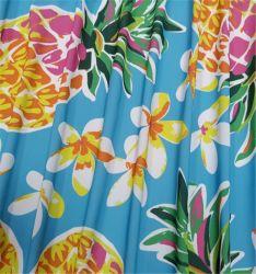 Esticar a Impressão Digital Hawaii Frutas Tropicais Poliamida padrão de tecido de licra