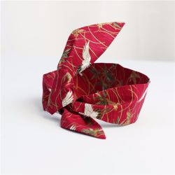 Custom Design lange zijde sjaal zijde Twilly haar sjaal 100% Zijde Twely