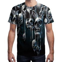 두개골 3D에 의하여 인쇄되는 t-셔츠