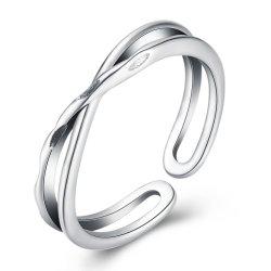 925 Sterling Silver Anneau ouvert sans Diamond