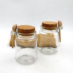 250ml ontruim de Fles van het Glas van het Voedsel met Lepel voor Kruid